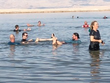The BV group at the Dead Sea (photo: Neal Pollard)